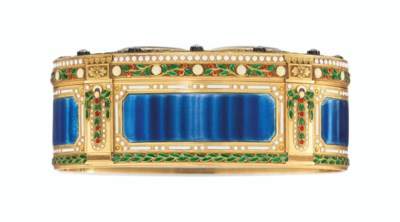 A GEORGE V JEWELLED ENAMELLED